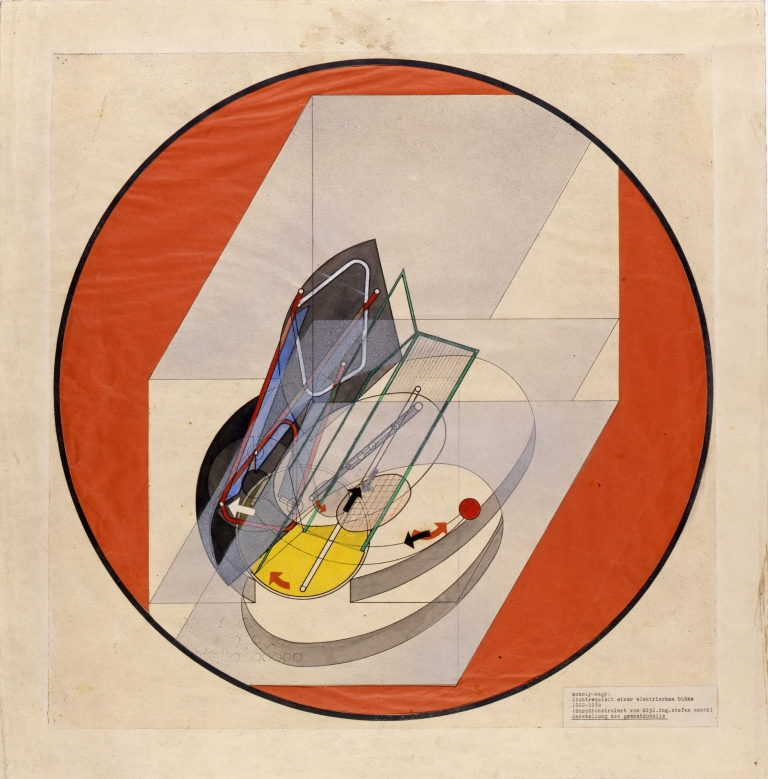 László Moholy-Nagy (1895-1946), Electric Stage Lightning, 1922-1930, Collage on tracing paper, 65,2 x 49,9cm, © Theaterwissenschaftliche Sammlung, Universität zu Köln