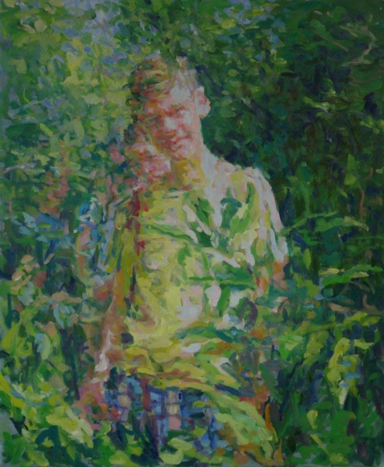 Encounter in the Woods, olieverf op doek, 120 x 100 cm.