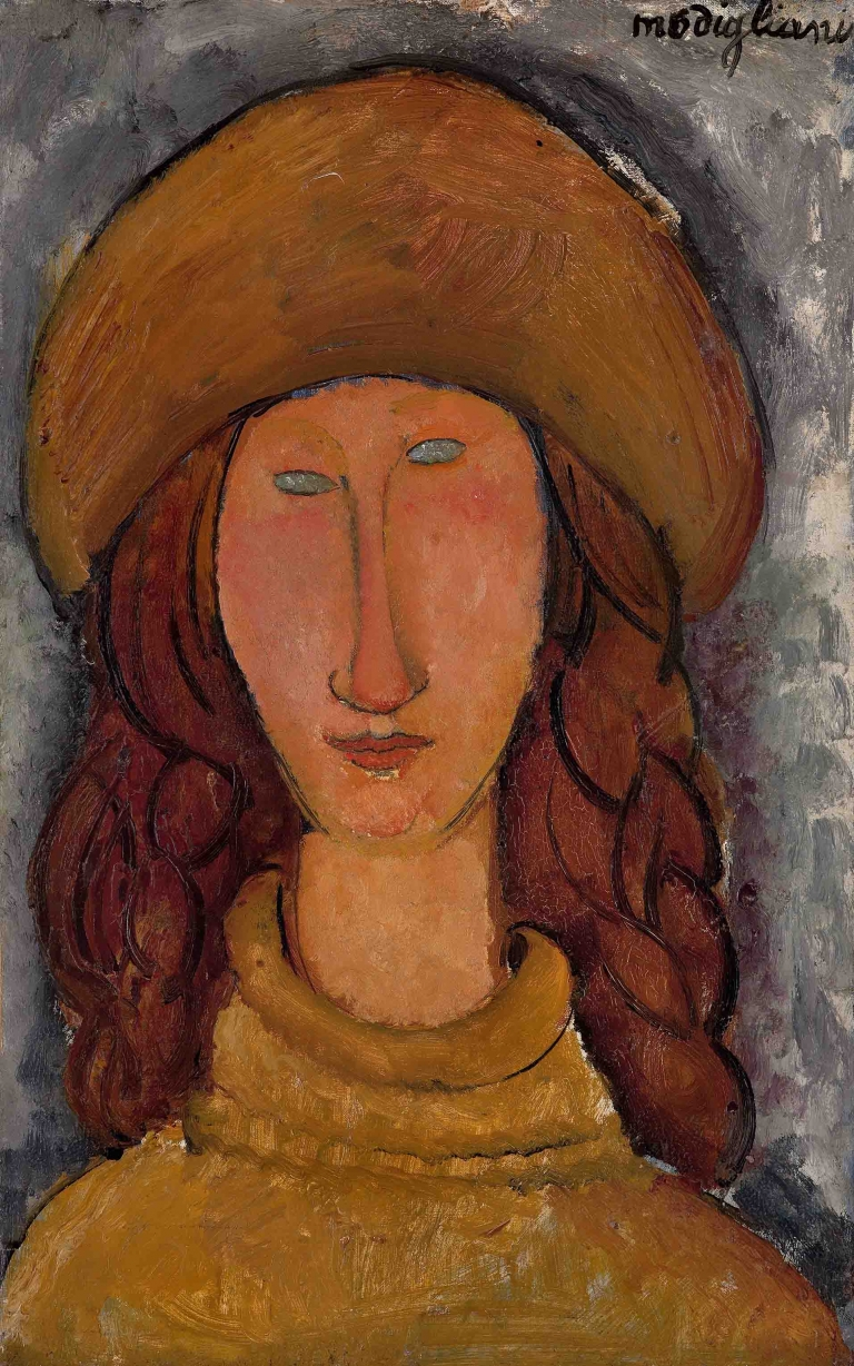 Amedeo Modigliani, Jeanne Hébuterne (1918), olieverf op doek. Troyes, musée d'Art moderne, collections nationales Pierre et Denise Lévy, 1976.