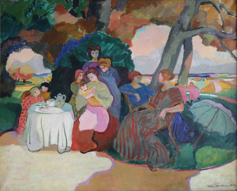 Maurice Marinot, Réunion de femmes et enfants (1909), olieverf op doek, 81 x 100 cm. Troyes, musée d'Art moderne, collections nationales Pierre et Denise Lévy, schenking Pierre en Denise Lévy, 1976.