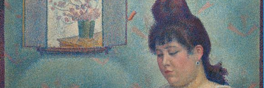 Georges Seurat, Young Woman Powdering Herself (1889-1890), olieverf op doek, 95,5 × 79,5 cm. Courtauld Institute of Art.
